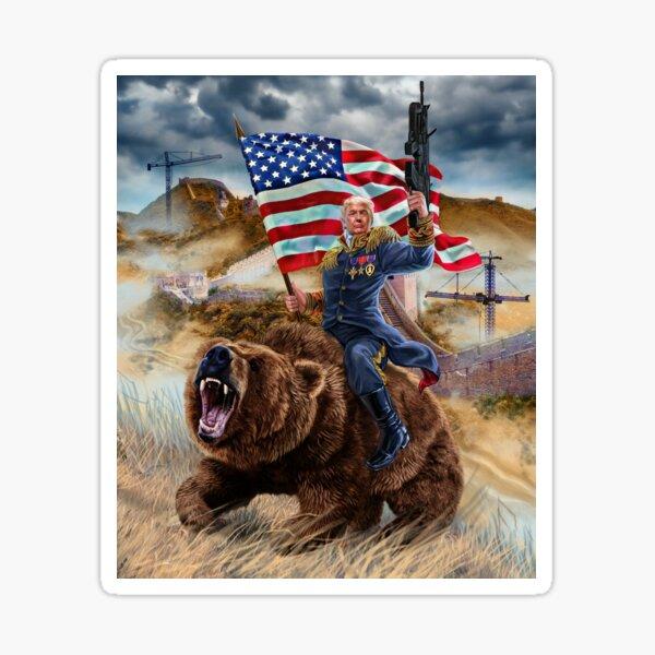 USA Republican President Donald Trump Building Epic Wall Sticker