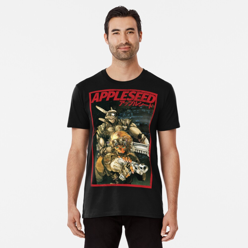 APPLESEED - 80's Anime Cyberpunk Military Action Premium T-Shirt