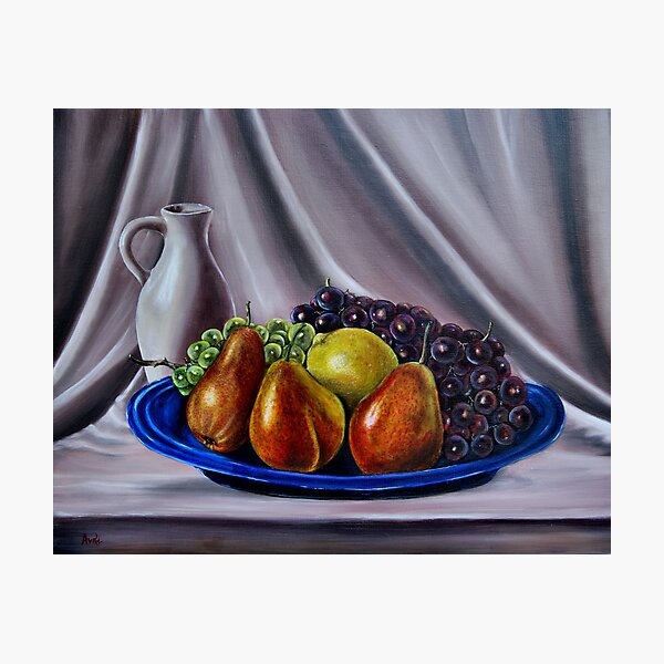 """""""Still Life - Fruit"""" - Oil painting Photographic Print"""