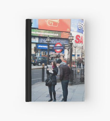 Lost in Piccadily Circus: London. UK. Hardcover Journal