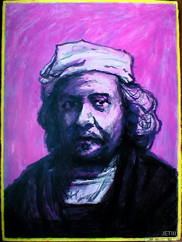 Original Rembrandt Acrylic Painting Circa 1987 by JETIII