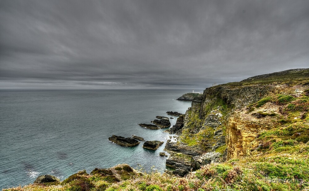 Rain Coming To South Stacks by JohnYoung