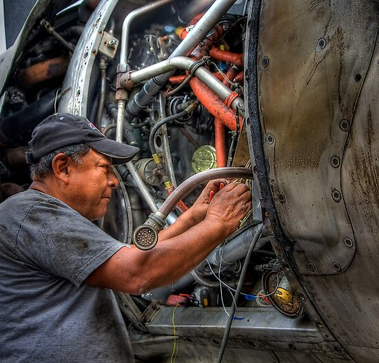 Aircraft Mechanic -- HDR Portrait by Bill Wetmore