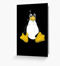 LINUX TUX THE PENGUIN KONTRA SIT Greeting Card