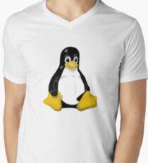 LINUX TUX THE PENGUIN KONTRA SIT Men's V-Neck T-Shirt