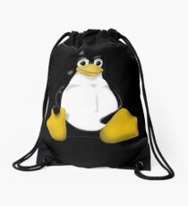 LINUX TUX THE PENGUIN KONTRA SIT Drawstring Bag