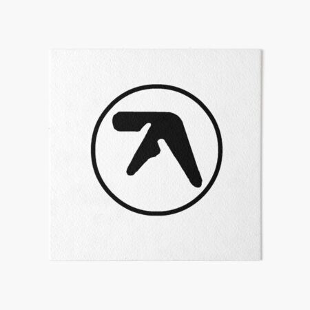Aphex Twin Logo Black Art Board Print