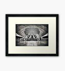 Canary Wharf Tube Station Framed Print