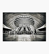 Canary Wharf Tube Station Photographic Print
