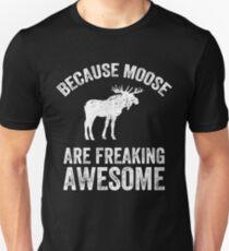 Weil Elche sind fantastisch - Lustiger Elch Slim Fit T-Shirt