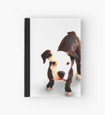 Brindle Bull Terrier Puppy Hardcover Journal