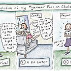The Evolution of an Expat's Myanmar Fashion Choices by Kristen Palana