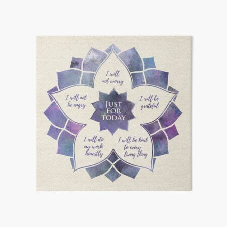 Reiki Principles - Reiki Precepts Art Board Print