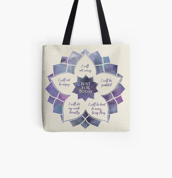 Reiki Principles - Reiki Precepts All Over Print Tote Bag