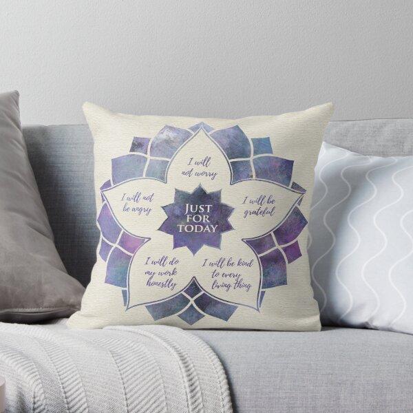 Reiki Principles - Reiki Precepts Throw Pillow