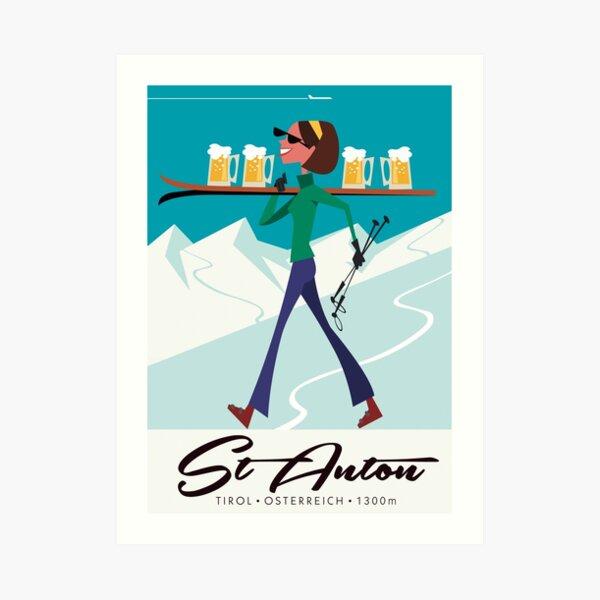 St Anton ski poster Art Print