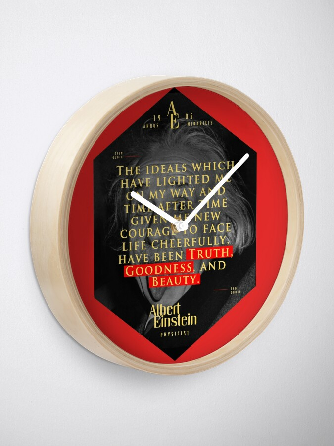 Vista alternativa de Reloj Cita de: Albert Einstein en Ideales - Carteles, pegatinas, regalos y camisetas