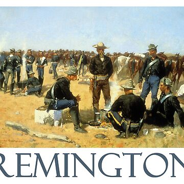 A Cavalryman's Breakfast on the Plains (1892) by Frederic Remington by Chunga