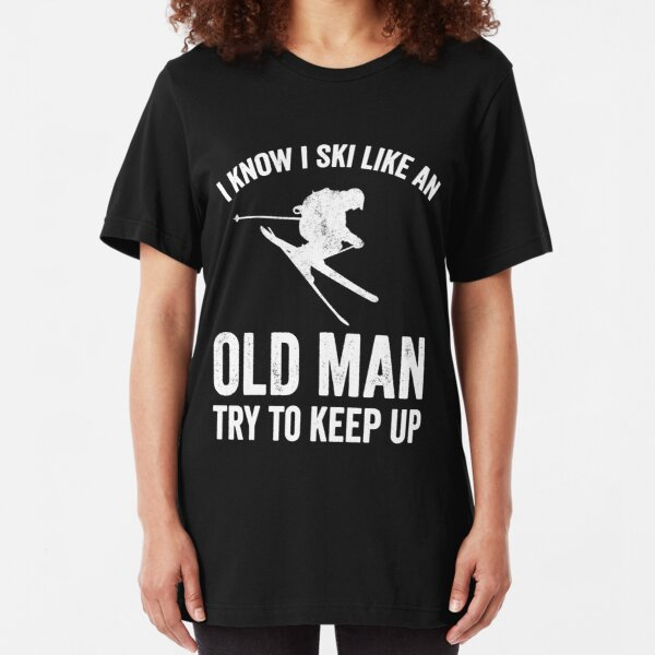 Womens Skiing T-Shirt Snow Skier downhill Winter Sports Tee Shirt
