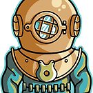 Cute Deep Sea Diver by Fiona Reeves