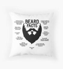 Beard Facts (black) Throw Pillow