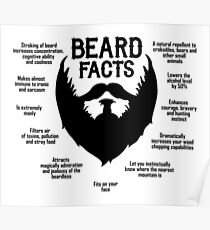 Beard Facts (black) Poster