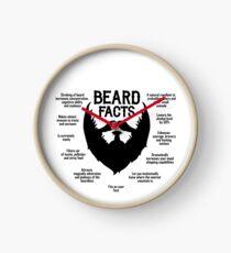 Beard Facts (black) Clock
