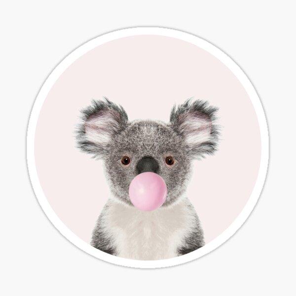 Koala Bear With Bubble Gum Sticker