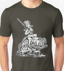 Bass Fishing Pin-Up Unisex T-Shirt