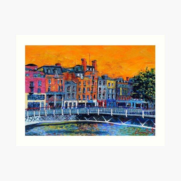 Millennium Bridge, Ormond Quay (Dublin, Ireland) Art Print