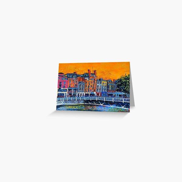Millennium Bridge, Ormond Quay (Dublin, Ireland) Greeting Card