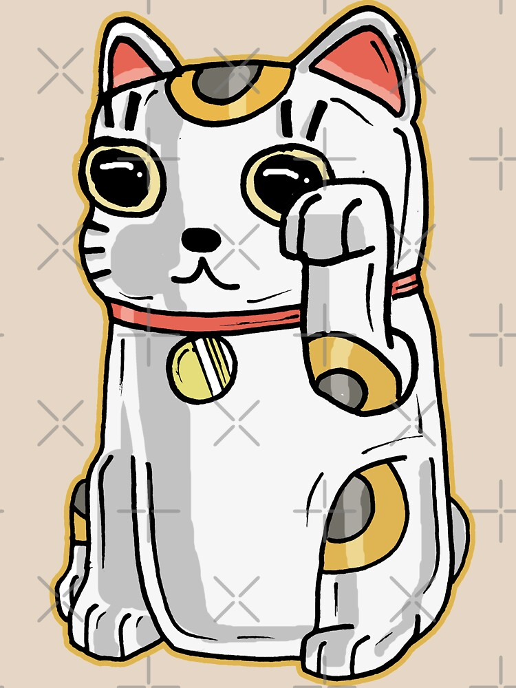 Japanese Lucky Cat / Alien Parasite from Rick and Morty™ by sketchNkustom