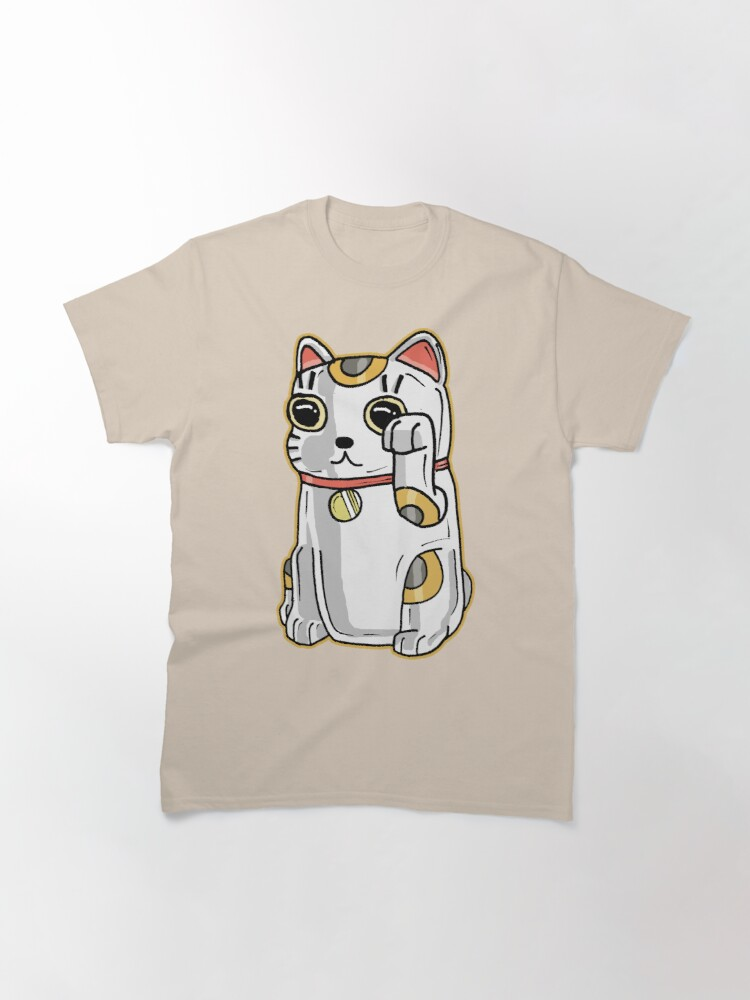 Alternate view of Japanese Lucky Cat / Alien Parasite from Rick and Morty™ Classic T-Shirt