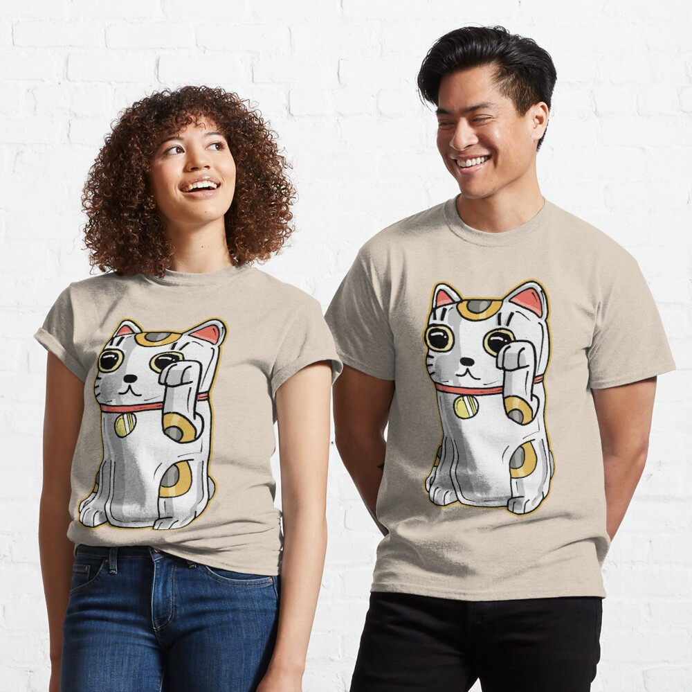 Japanese Lucky Cat / Alien Parasite from Rick and Morty™ Classic T-Shirt