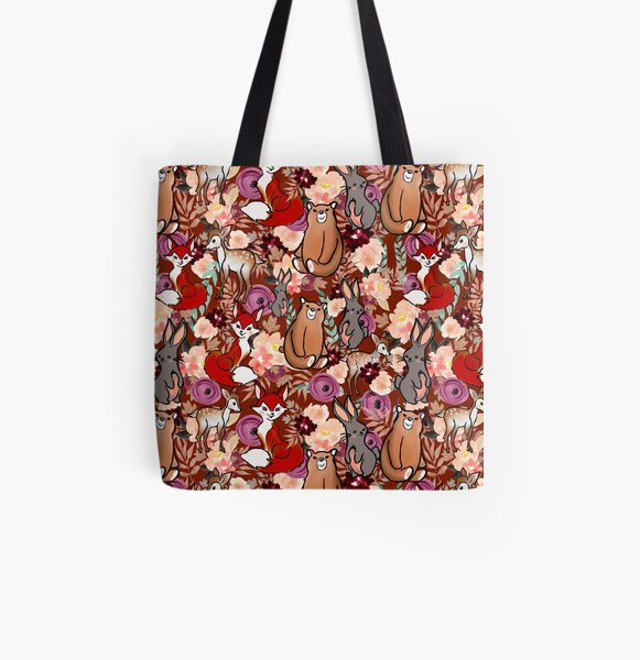 Zipped Bag for Make-up Small Vintage Woodland Floral Stationery and other accessories Medium or Large