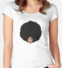 The Epic Afro of Marouane Fellaini Women's Fitted Scoop T-Shirt