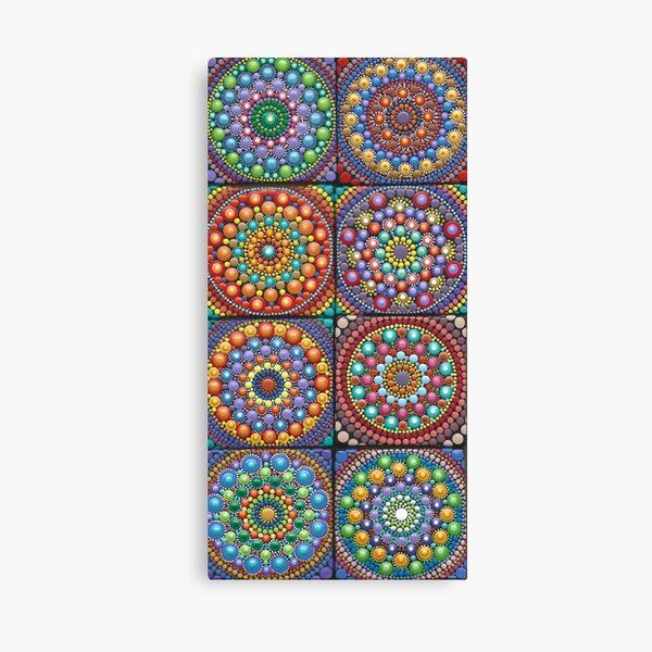 Mandala world - Mini Mandalas Canvas Print