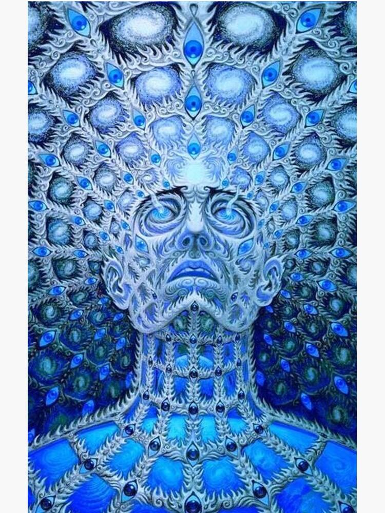 Werkzeugbandgrafik. Trippy, psychedelisches, cooles Logo von fedorabruh