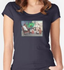 TV is Really Becoming Part of our Family! Women's Fitted Scoop T-Shirt