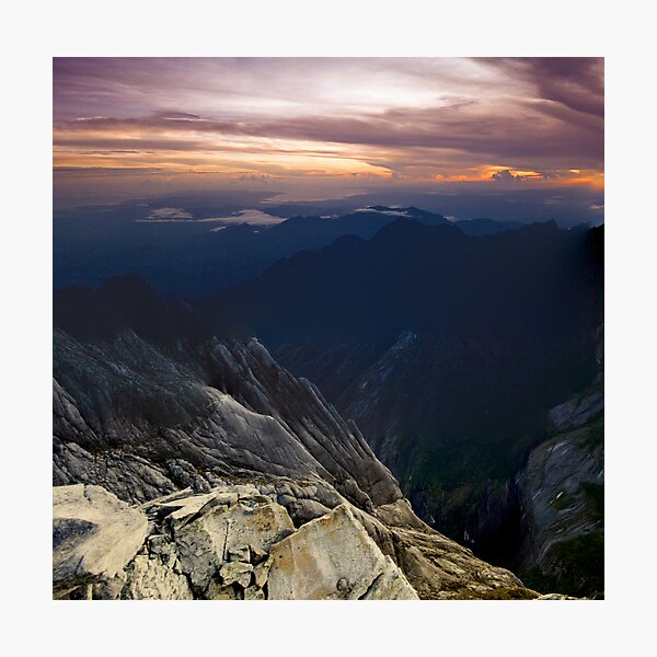 Mt Kinabalu  Photographic Print