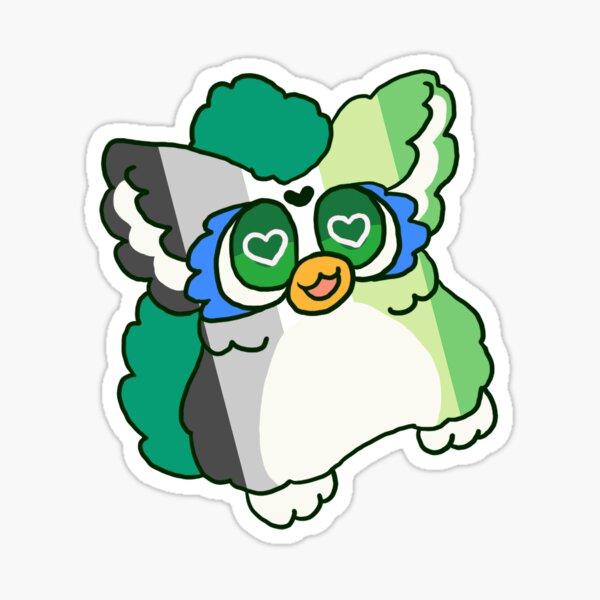 Aromantic Furby Pride Sticker