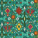 zoryana teal by Sharon Turner