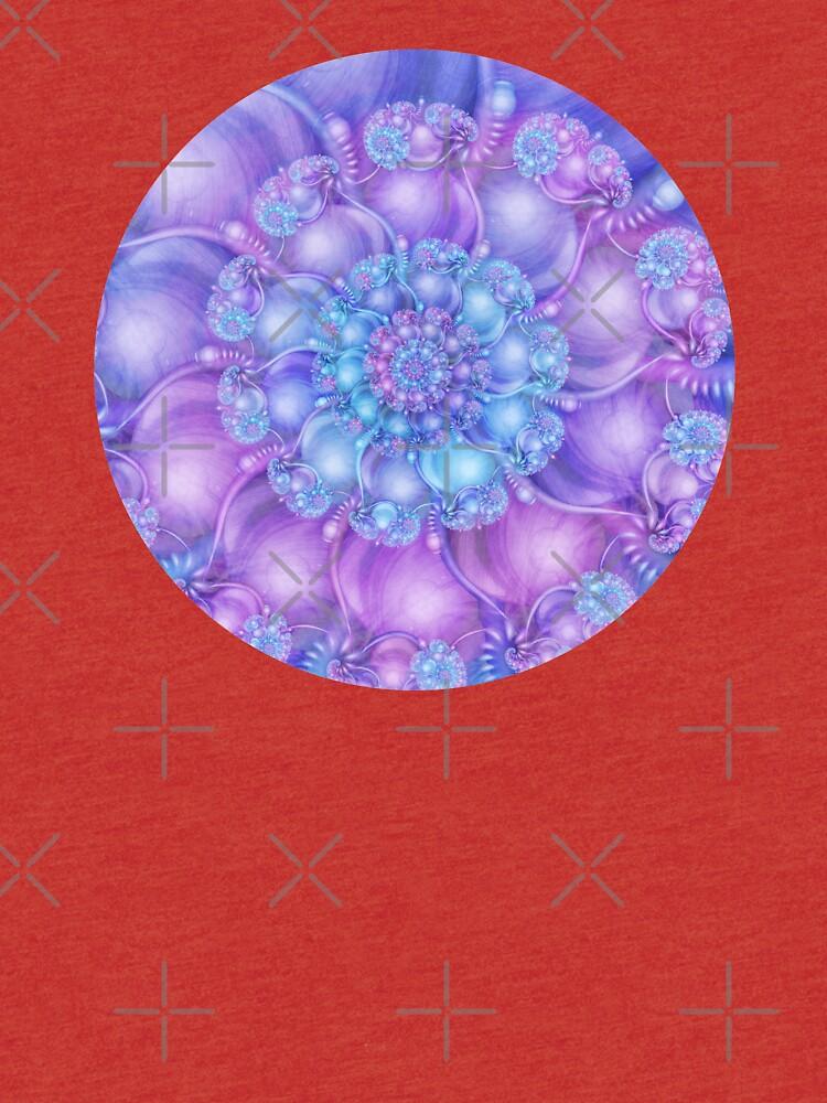 Cerulean Blue and Violet Purple Spiral by kellydietrich