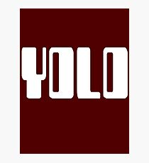 'YOLO' by Chillee Wilson Photographic Print