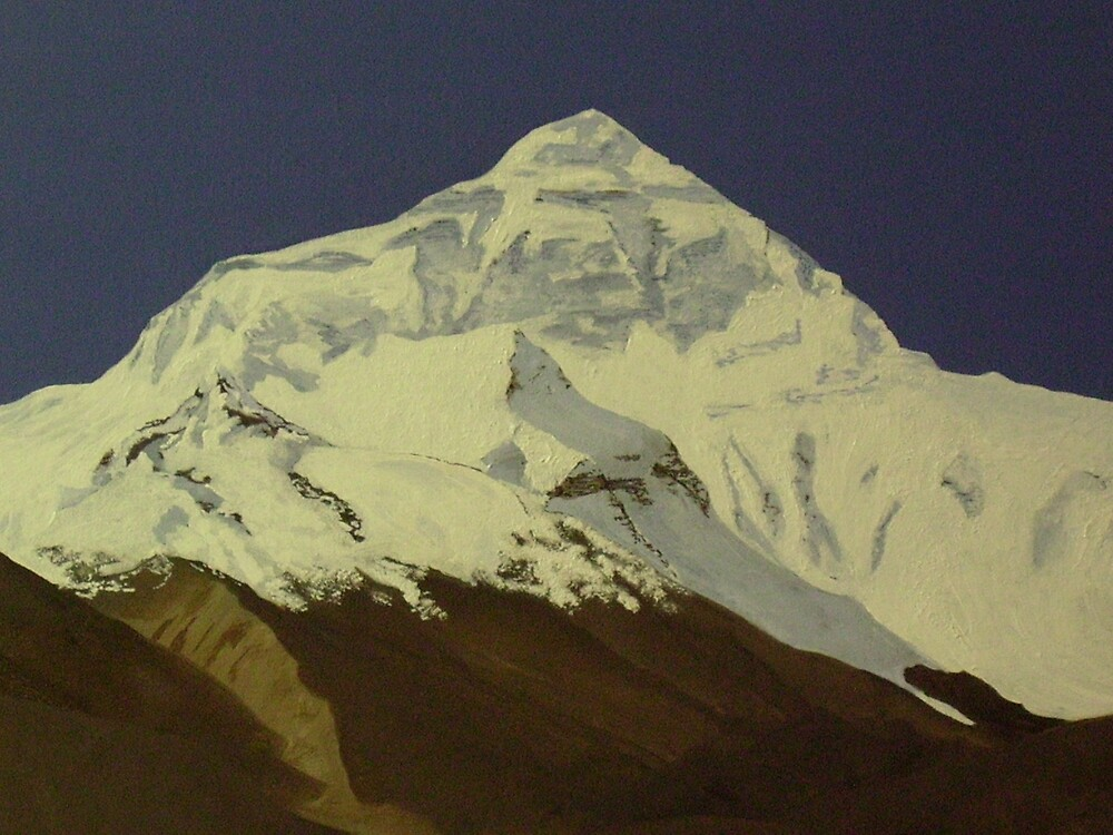Everest from Tibet by Garry Linahan