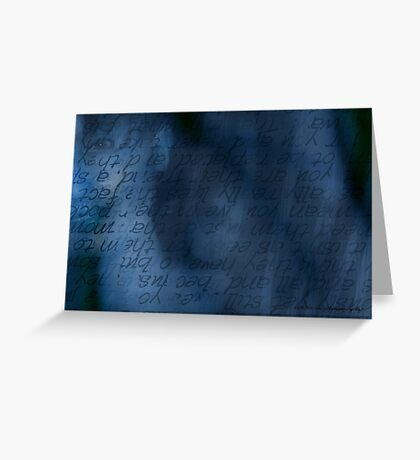 Blue Glimpse © Greeting Card