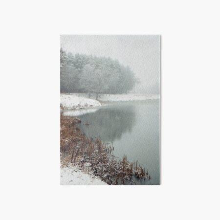 Winter Haiku Art Board Print