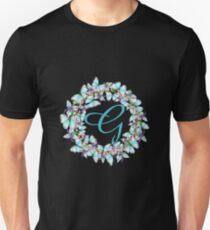 Letter G- butterfly, orchid, Alphabet, Monogram, Initial  Unisex T-Shirt