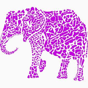 Purple Elephant by leprosa
