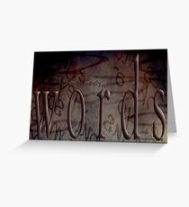 Steaming Words © Greeting Card